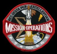 NASA Mission Operations Embroidered Patch